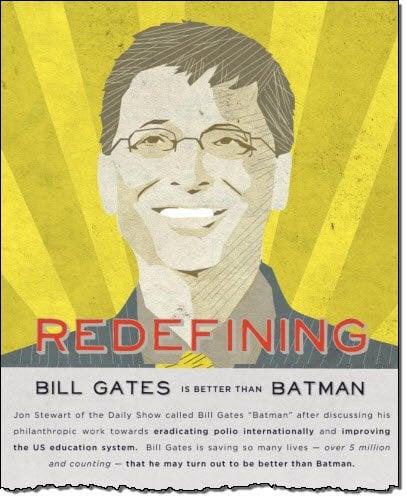 Infografía: Bill Gates - El nuevo héroe de acción