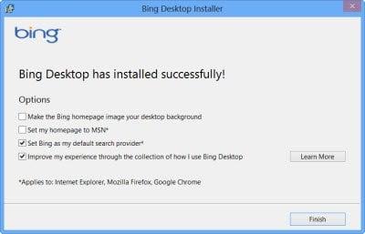 Bing Desktop para Windows 7/8 ahora ofrece integración con Facebook