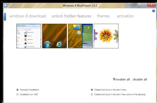 Desbloquear Moonrea, una característica oculta de Windows 8, utilizando BluePoison 1