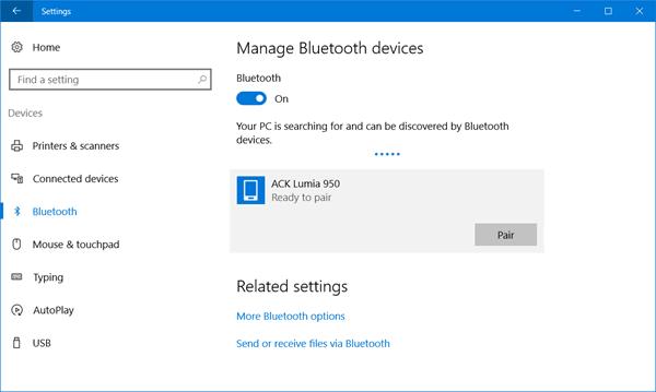 Cómo activar y usar Bluetooth en Windows 10 1