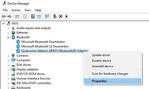 Cómo comprobar la versión del Adaptador Bluetooth en Windows 10 1
