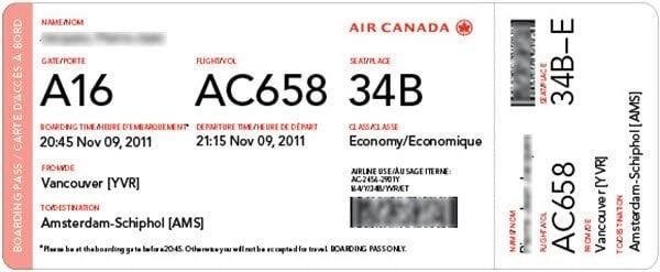 Qué información está disponible en el código de barras de la tarjeta de embarque y por qué debe tener cuidado 26