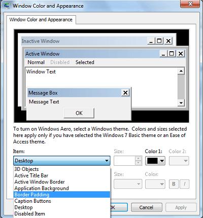 Cómo reducir los bordes gruesos del Explorador en Windows 7