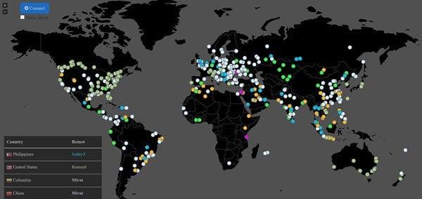 El Rastreador de Botnets le permite rastrear la actividad de botnets vivos en todo el mundo.