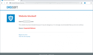 Emsisoft Browser Security bloquea los ataques de malware y phishing