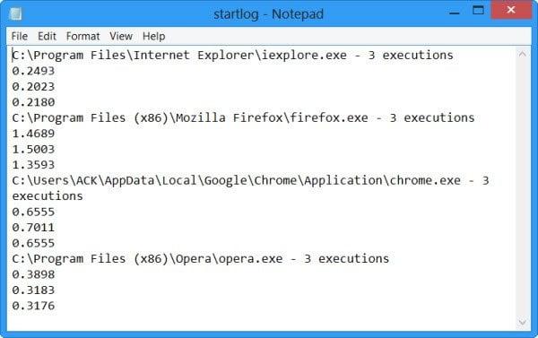 AppTimer: Mida los tiempos de inicio de las aplicaciones en Windows