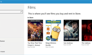 Comprar o alquilar contenido de películas o TV a través de Windows 10 Movies & TV App