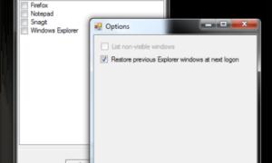 Reabrir automáticamente las aplicaciones y ventanas de software después de reiniciar en Windows.