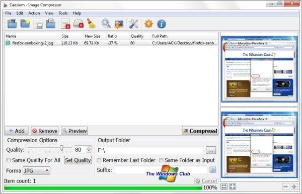 Cesio: Software de código abierto para optimizar y reducir el tamaño de la imagen
