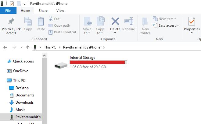 No se pueden importar fotos de iPhone a Windows 10 PC 4