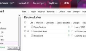 Cómo usar Categorías y Acciones Instantáneas; dos nuevas características en Hotmail