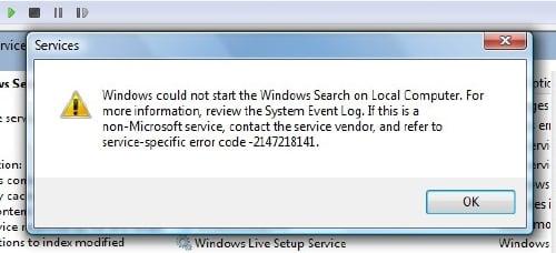 Windows Search Indexer no funciona 5