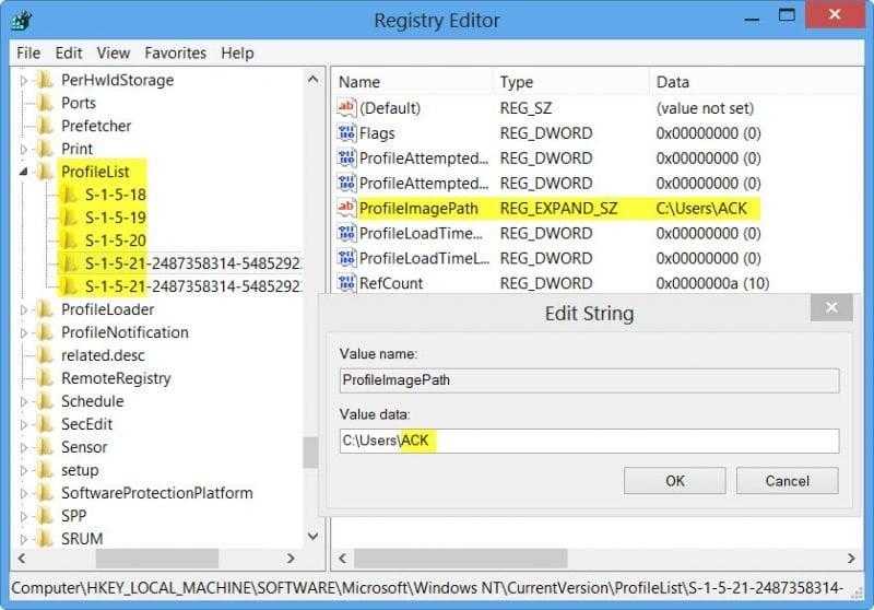 Cómo cambiar el nombre de la cuenta de usuario en Windows 10/8