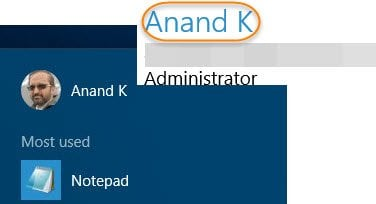 Cambiar el nombre de usuario de la cuenta en Windows 10 al iniciar sesión con una cuenta de Microsoft