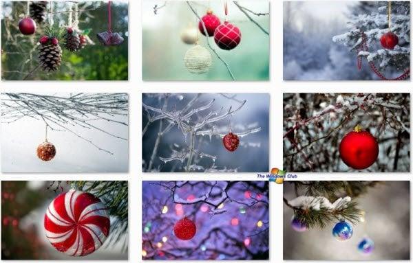 Hermosos temas navideños de Windows 7