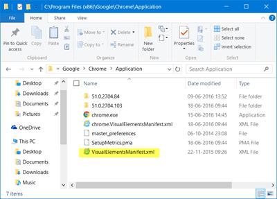 El icono de Google Chrome es demasiado grande en Windows 10 2