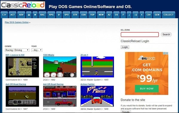 Juega juegos de MS DOS en línea en estos 5 sitios principales 2