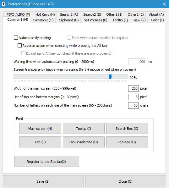 Guarde archivos de texto desde el portapapeles de Windows 10 con Clibor