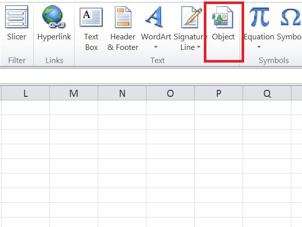 Cómo insertar un archivo PDF en una hoja de Excel 1