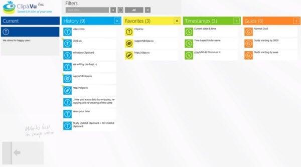 Clipa.Vu es un Administrador de Portapapeles gratuito disponible en Microsoft Store.