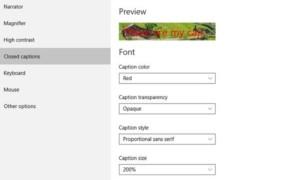 Mostrar u ocultar Letras, subtítulos y subtítulos de vídeos en Windows 10