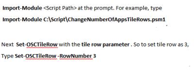 Usar PowerShell para cambiar el número de filas de aplicaciones en la pantalla de inicio de Windows 8 2