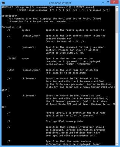 Verificar la configuración de la directiva de grupo con la herramienta Resultados de la directiva de grupo o GPResult.exe en Windows 3