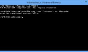 Habilitar, deshabilitar la Prevención de ejecución de datos (DEP) en Windows 10/8/7