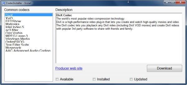 Identificar e instalar codecs faltantes en minutos utilizando CodecInstaller