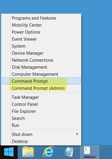 Reemplazar el símbolo del sistema por PowerShell en el menú de WinX Power de Windows 10/8.1 3