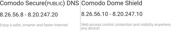 Comodo SecureDNS - Protección contra malware y control parental 1
