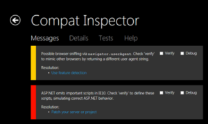 Compat Inspector para Internet Explorer 10 ya está disponible
