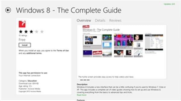 Aplicaciones para ayudarle a aprender Windows 8 y sus atajos de teclado