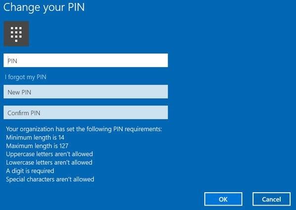 Cómo habilitar y configurar la directiva de grupo de complejidad de PIN en Windows 10
