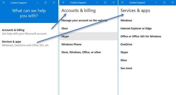 Cómo usar la aplicación Contactar con el soporte técnico en Windows 10 2
