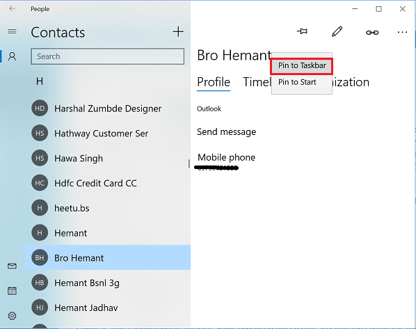 Cómo usar la Barra de personas en Windows 10 3