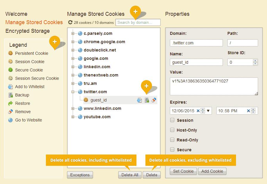 Herramientas de seguridad, privacidad y limpieza para Firefox, Chrome, Opera