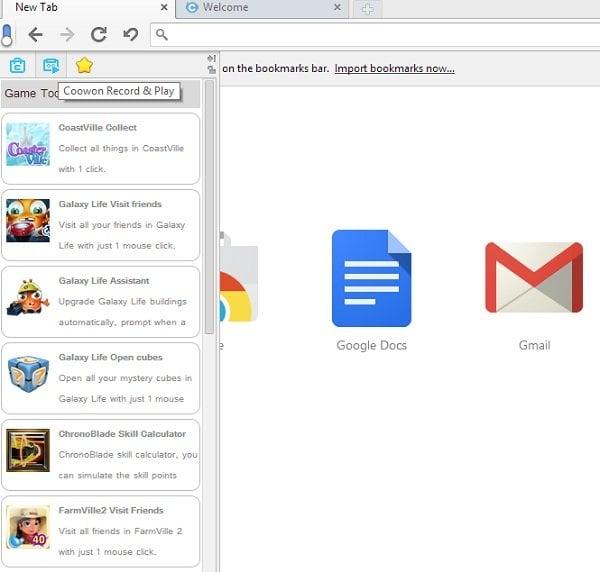 Coowon: Un navegador basado en Chrome para jugadores en línea 2