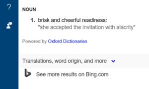 Cómo usar Cortana como diccionario en Windows 10