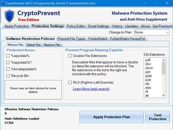 Revisión de CryptoPrevent: Evite o bloquee los ataques de Ransomware