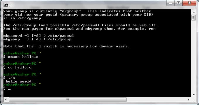 Cygwin: shell UNIX para Windows