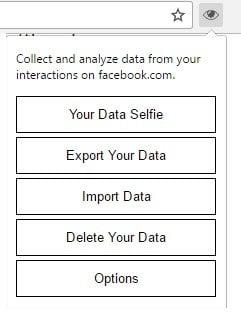 La extensión Data Selfie Chrome te muestra cómo usas Facebook