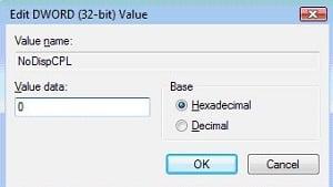No se puede abrir Configuración de pantalla en el Panel de control de Windows 10/8/7