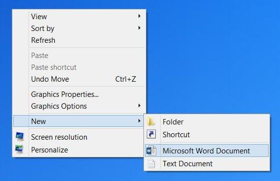 Editar, Agregar, Quitar elementos del Menú Nuevo Contexto en Windows 10/8/7