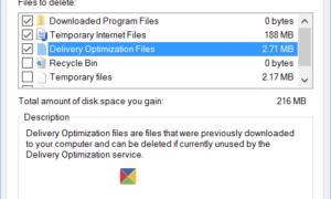 Cómo eliminar archivos de optimización de entrega y recuperar el espacio perdido en el disco de Windows 10 PC