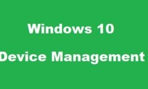 Administración de dispositivos en Windows 10