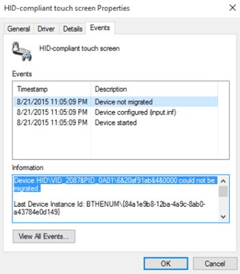 Corrección del mensaje Dispositivo no migrado en los equipos con Windows 1