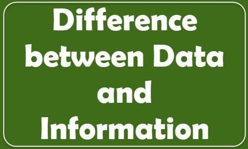 ¿Cuál es la diferencia entre Datos e Información?