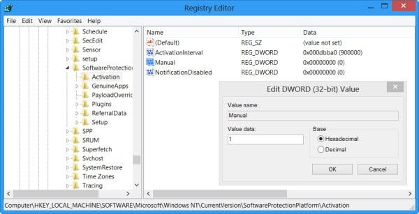 Desactivar la ventana emergente Activación automática de Windows en Windows 10/8/7