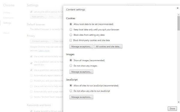 Desactivar imágenes en Chrome, Firefox, Internet Explorer durante la navegación 1
